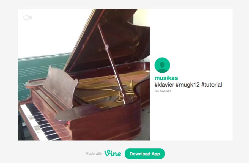 """Klicke auf das Bild, um das """"Klavier Tutorial 1"""" auf Vine zu sehen."""