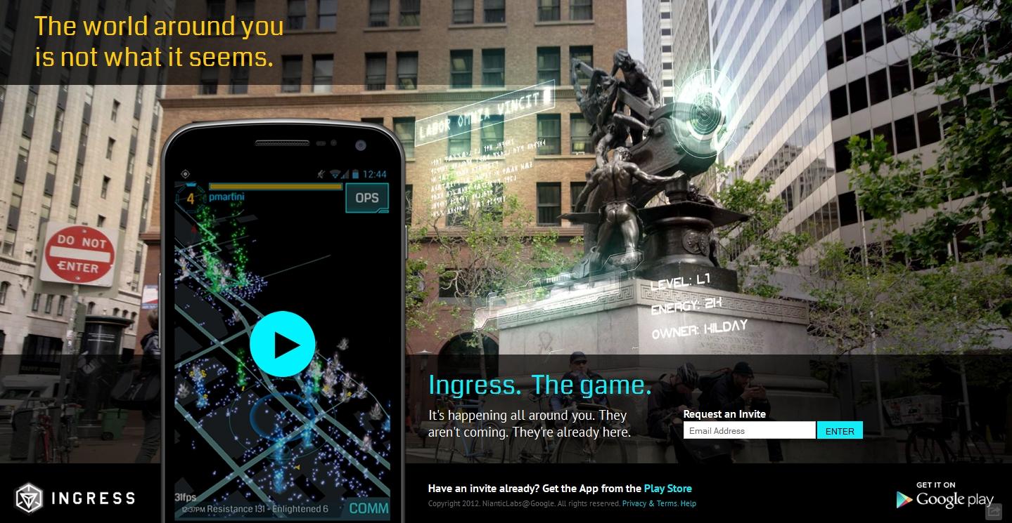 Screenshot aus dem Spiel Ingress