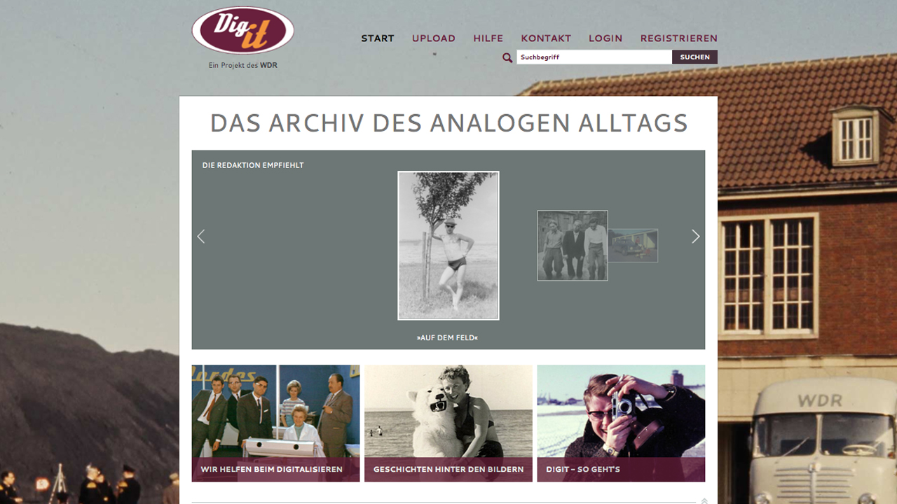 Im Retro Look: Die Digit-Website. Bild: Screenshot